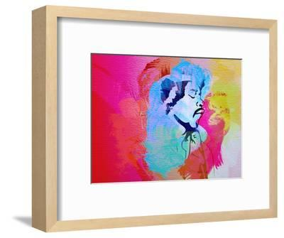 Legendary Hendrix Watercolor-Olivia Morgan-Framed Art Print