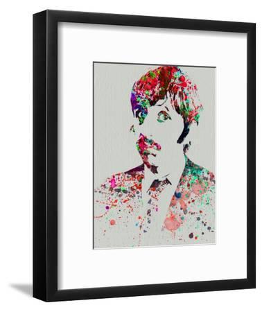 Legendary George Harrison Watercolor III-Olivia Morgan-Framed Art Print
