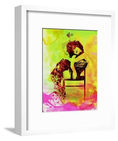 Legendary Siouxsie and the Banshees Watercolor-Olivia Morgan-Framed Art Print