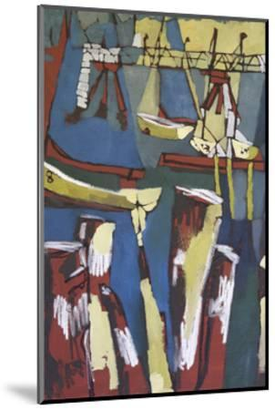 Maine Sails Portland I-Erin McGee Ferrell-Mounted Art Print