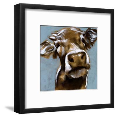 Cow Kisses I-Jennifer Parker-Framed Art Print