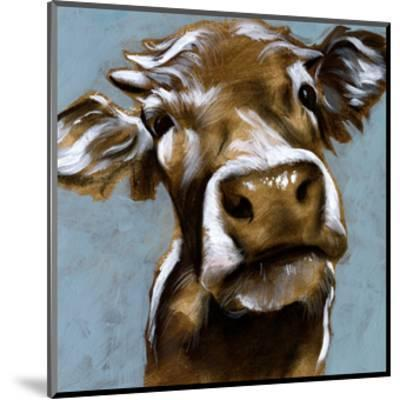 Cow Kisses I-Jennifer Parker-Mounted Art Print