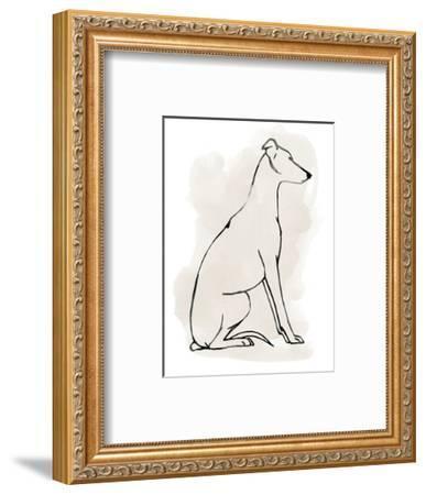 Greyhound Sketch I-Grace Popp-Framed Art Print