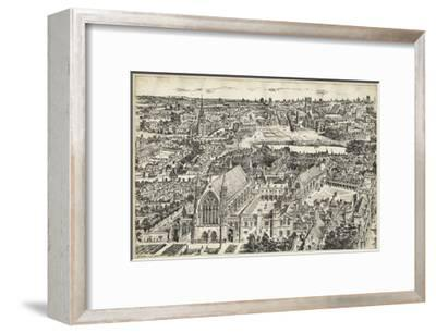 Bird's Eye View of London - Ely Place-0 Unknown-Framed Art Print