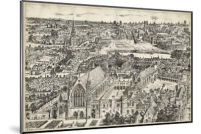 Bird's Eye View of London - Ely Place-0 Unknown-Mounted Art Print