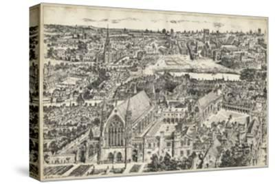 Bird's Eye View of London - Ely Place-0 Unknown-Stretched Canvas Print