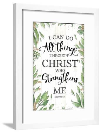 I Can Do All Things Through Christ-Jennifer Pugh-Framed Art Print