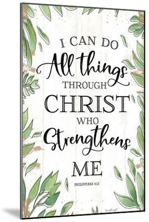 I Can Do All Things Through Christ-Jennifer Pugh-Mounted Art Print