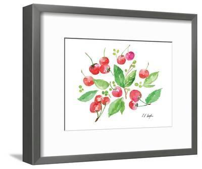 Cherries and Leaves-Elise Engh-Framed Art Print