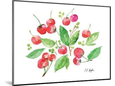 Cherries and Leaves-Elise Engh-Mounted Art Print