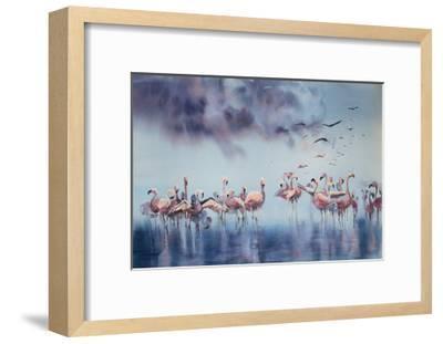 Flamingo Gathering-Sophia Rodionov-Framed Art Print
