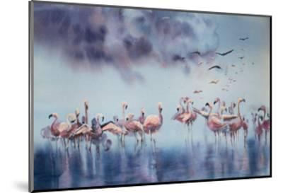 Flamingo Gathering-Sophia Rodionov-Mounted Art Print