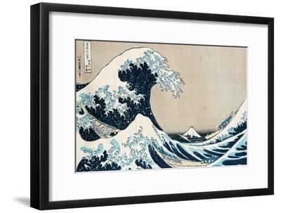 "The Great Wave Off Kanagawa, from the Series ""36 Views of Mt. Fuji"" (""Fugaku Sanjuokkei"")-Katsushika Hokusai-Framed Premium Giclee Print"