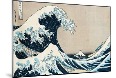 "The Great Wave Off Kanagawa, from the Series ""36 Views of Mt. Fuji"" (""Fugaku Sanjuokkei"")-Katsushika Hokusai-Mounted Premium Giclee Print"