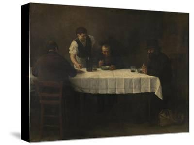 Le Repas des Pauvres-Alphonse Legros-Stretched Canvas Print