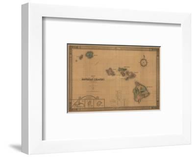 Hawaii - Panoramic State Map-Lantern Press-Framed Giclee Print
