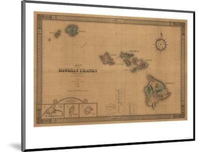 Hawaii - Panoramic State Map-Lantern Press-Mounted Giclee Print