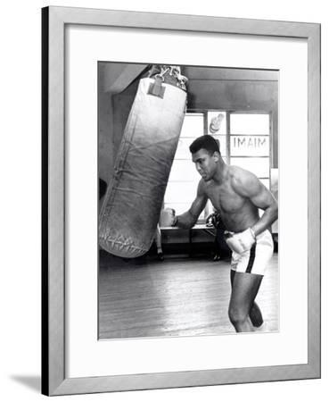 Muhammad Ali Training at the 5th Street Gym, Miami Beach, 27 September 1965--Framed Giclee Print