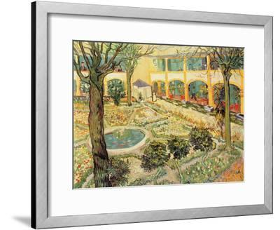 The Asylum Garden at Arles, c.1889-Vincent van Gogh-Framed Giclee Print