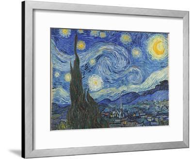 The Starry Night, June 1889-Vincent van Gogh-Framed Giclee Print
