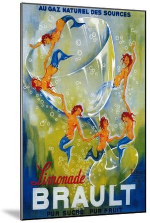 Limonade Brault Vintage Poster - Europe-Lantern Press-Mounted Art Print