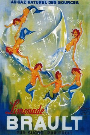 Limonade Brault Vintage Poster - Europe-Lantern Press-Framed Premium Giclee Print