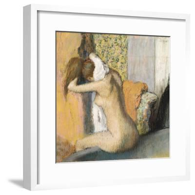 After the Bath, Woman Drying Her Neck, 1898-Edgar Degas-Framed Giclee Print