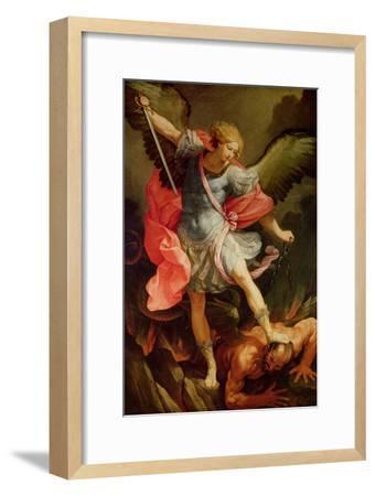The Archangel Michael Defeating Satan-Guido Reni-Framed Premium Giclee Print