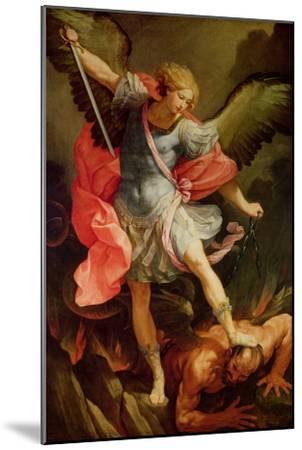 The Archangel Michael Defeating Satan-Guido Reni-Mounted Premium Giclee Print