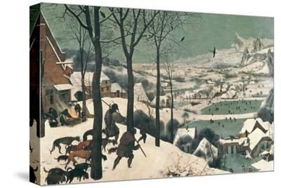 Hunters in the Snow, February, 1565-Pieter Bruegel the Elder-Stretched Canvas Print