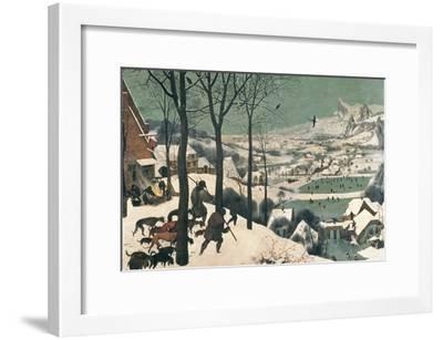 Hunters in the Snow, February, 1565-Pieter Bruegel the Elder-Framed Giclee Print