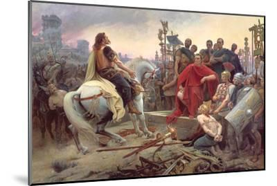 Vercingetorix Throws Down His Arms at the Feet of Julius Caesar, 1899-Lionel Noel Royer-Mounted Giclee Print