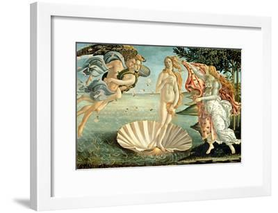 The Birth of Venus, c.1485-Sandro Botticelli-Framed Giclee Print