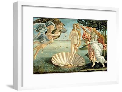 The Birth of Venus, c.1485-Sandro Botticelli-Framed Premium Giclee Print