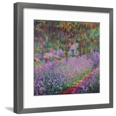 The Artist's Garden At Giverny, c.1900-Claude Monet-Framed Giclee Print