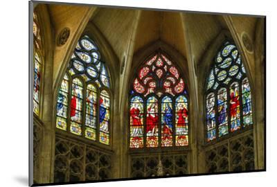 France, Toulouse. Cathedral of St. Etienne stained glass windows.-Hollice Looney-Mounted Photographic Print