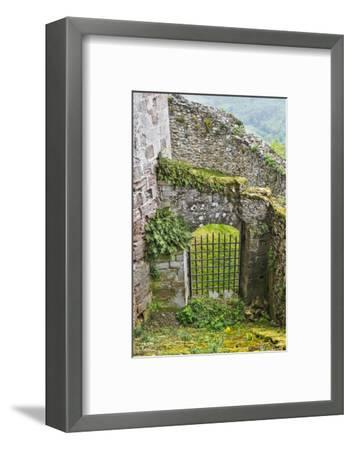 France, Najac. Window in the Najac Castle-Hollice Looney-Framed Photographic Print