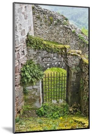 France, Najac. Window in the Najac Castle-Hollice Looney-Mounted Photographic Print
