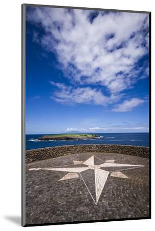 Portugal, Azores, Sao Jorge Island, Topo. Ponta do Topo, compass rose mosaic-Walter Bibikow-Mounted Photographic Print