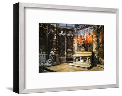 France, Toulouse. Cathedral of St. Etienne interior.-Hollice Looney-Framed Photographic Print