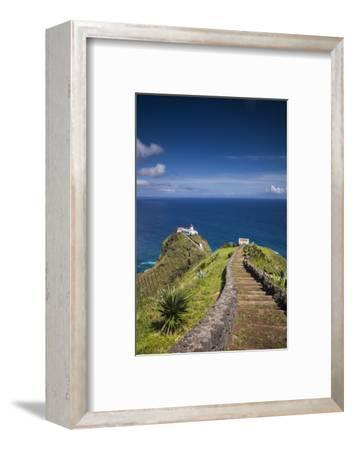 Portugal, Azores, Santa Maria Island, Ponta do Castelo lighthouse-Walter Bibikow-Framed Photographic Print