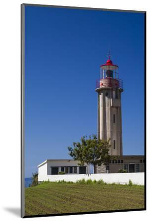 Portugal, Azores, Sao Miguel Island, Povoacao lighthouse-Walter Bibikow-Mounted Photographic Print
