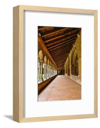France, Toulouse. Columns of the inner courtyard at the Church of the Jacobins-Hollice Looney-Framed Photographic Print