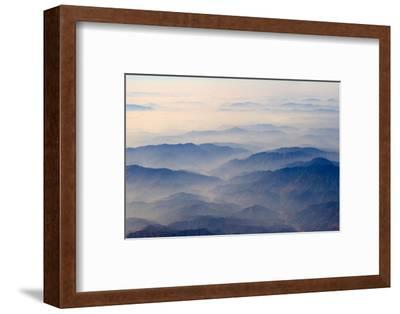 Aerial view of mountains, China-Keren Su-Framed Photographic Print