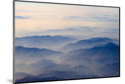 Aerial view of mountains, China-Keren Su-Mounted Photographic Print