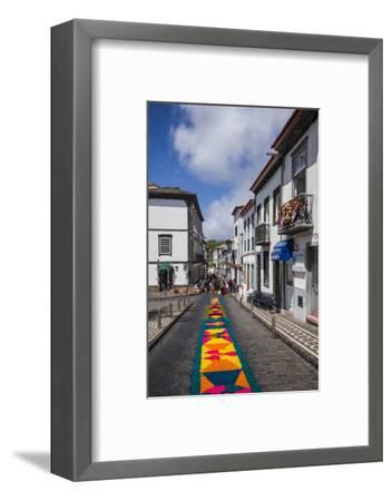 Portugal, Azores, Sao Miguel Island, Ponta Delgada. Festa Santo Christo dos Milagres festival-Walter Bibikow-Framed Photographic Print