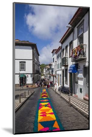 Portugal, Azores, Sao Miguel Island, Ponta Delgada. Festa Santo Christo dos Milagres festival-Walter Bibikow-Mounted Photographic Print