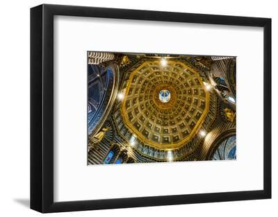 Siena Cathedral interior. Siena, Italy. Completed from 1215 to 1263.-William Perry-Framed Photographic Print