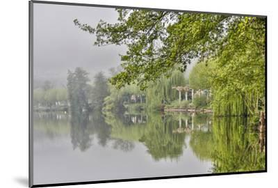 France, Cajarc. Early morning fog on the Lot River.-Hollice Looney-Mounted Photographic Print