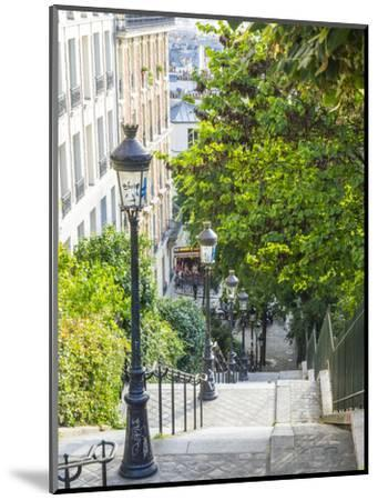 Stairs leading up to Montmartre-Sylvia Gulin-Mounted Photographic Print